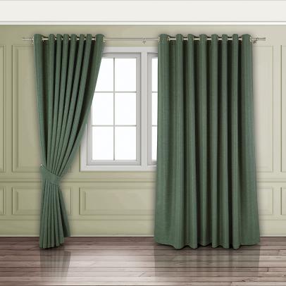 Комплект штор «Сoriandolo», темный бутылочно-зеленый