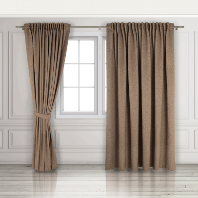 Комплект штор «Derby», коричневый меланж