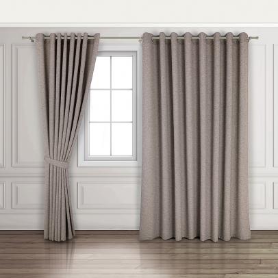 Комплект штор «Derby», серо-коричневый меланж
