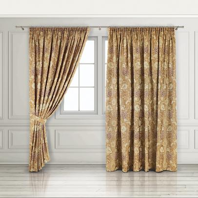 Комплект штор «Palazzo», золотистый бежевый