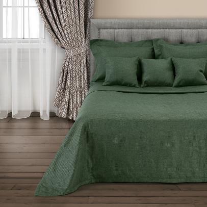 Покрывало «Сoriandolo», темный бутылочно-зеленый