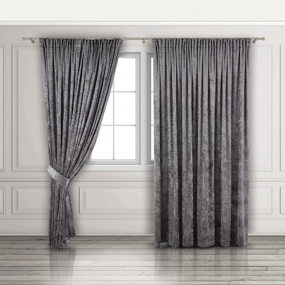 Комплект штор «Filarmonia», серый графит