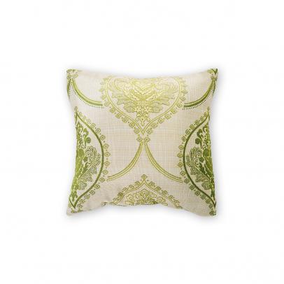 Декоративная подушка «Sinfonia» 40х40, золотистый бежевый с зеленым узором