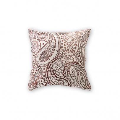 Декоративная подушка «Сapriccio» 40х40, серебристый с школодным узором