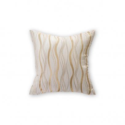 Декоративная подушка «Benvenuto» 40х40, золотистый бежевый