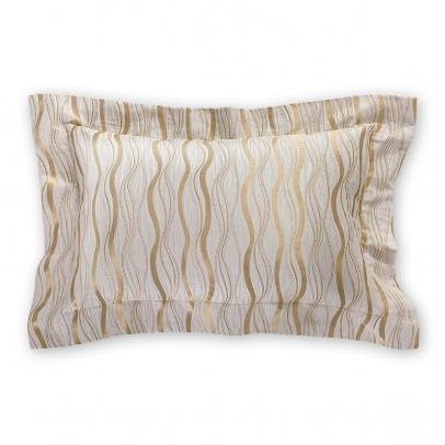 Декоративная подушка «Benvenuto» 50х70, золотистый бежевый