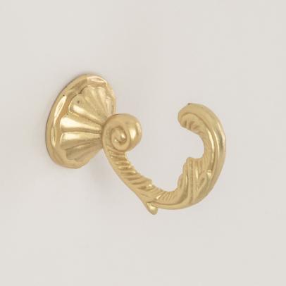 Крючок для подхвата «Веточка», матовое золото