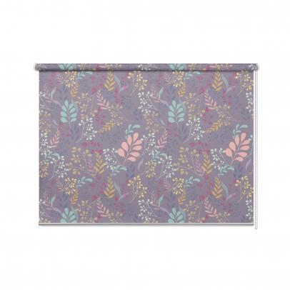 Рулонная штора с принтом «La Fleur», фиолетовый