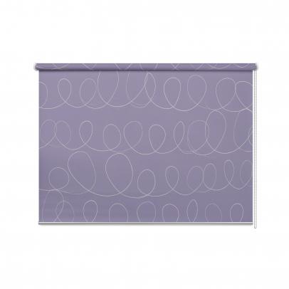 Рулонная штора с принтом «Завитки», фиолетовый