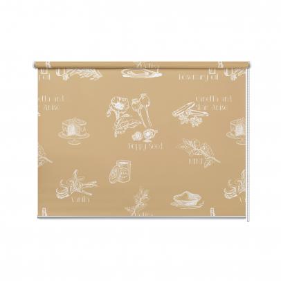 Рулонная штора с принтом «Bon Appetit 2», мульти