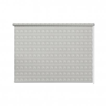 Рулонная штора с принтом «Ethnic», серый